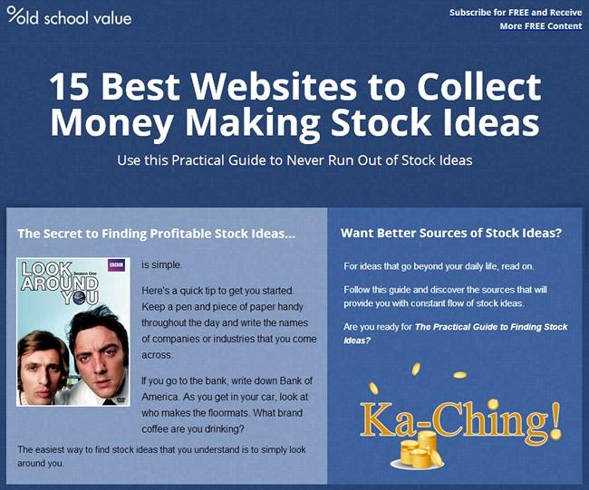 15 Best Websites for Stock Ideas