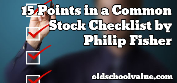common stock checklist