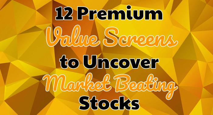 value screens that beat the market